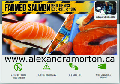 Alexandra Morton's new website reveals what we can do about the multiple threats  to our health & oceans from farmed salmon.  Please visit it to help spread the word!